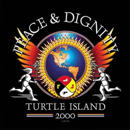 "Peace-Dignity-""Turtle Island""; Friedenslauf 2000"